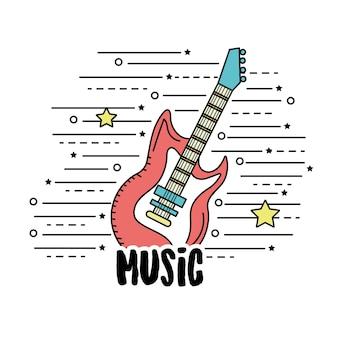 Instrumento musical de guitarra para tocar música