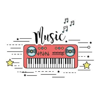 Instrumento musical de piano para tocar música