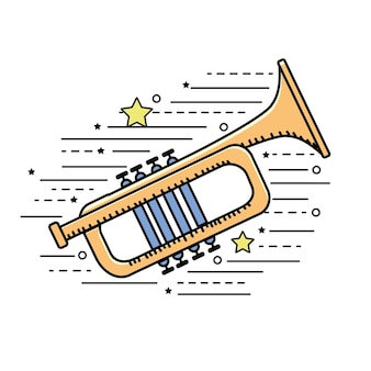 Instrumento musical de tumpet para tocar música