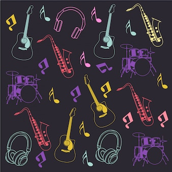 Instrumento musical e nota patternx