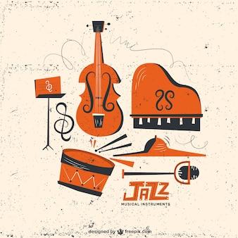 Instrumentos de jazz retro