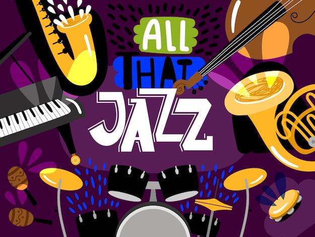 Instrumentos musicais de jazz ao vivo