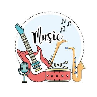 Instrumentos musicais para tocar música