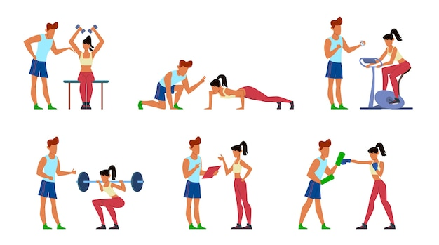Instrutor de fitness.