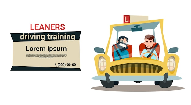 Instrutor de treinamento de condução instrutor de prática de cursos