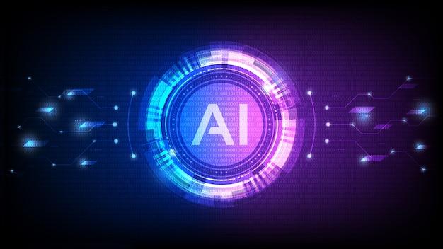 Inteligência artificial, análise ai com linha de circuito