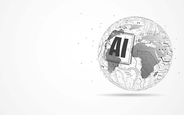 Inteligência artificial conexão de rede global