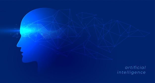 Inteligência artificial e aprendizagem de máquina conceito fundo de tecnologia