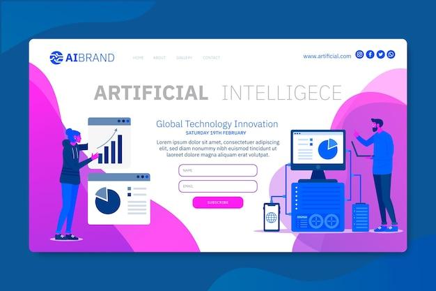 Inteligência artificial explore a página de destino futura