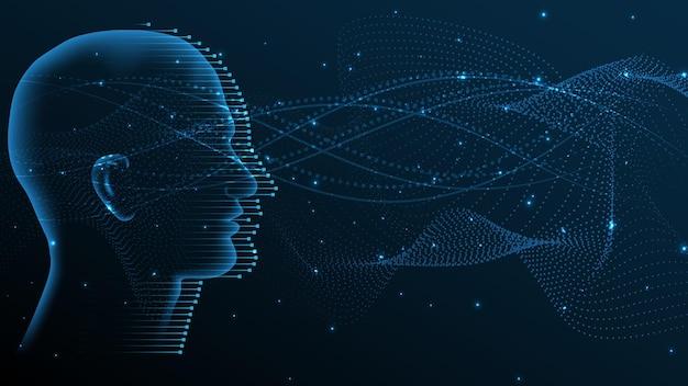 Inteligência artificial, ilustração em vetor fundo abstrato de inovação de alta tecnologia