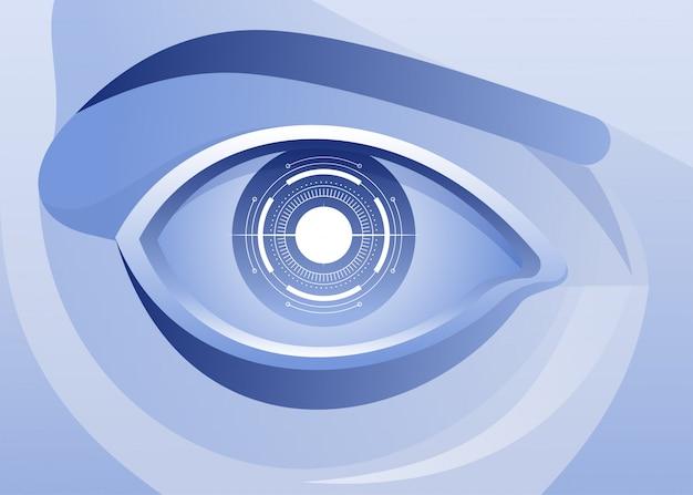 Inteligência artificial, olhos azuis