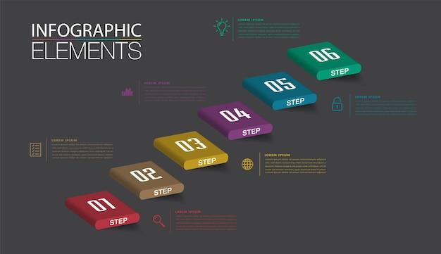 Intensificar o conceito de sucesso empresarial vector infográfico