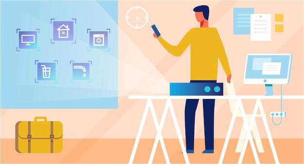 Interface de aplicativo do sistema smart home para controle remoto