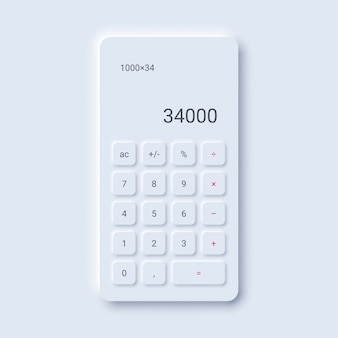 Interface de calculadora minimalista