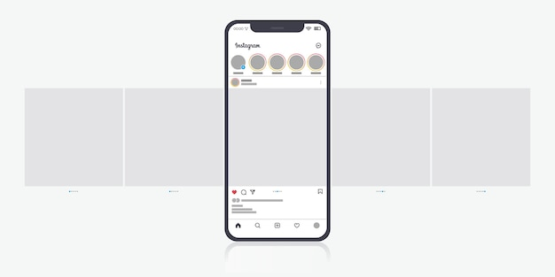 Interface de carrossel do instagram