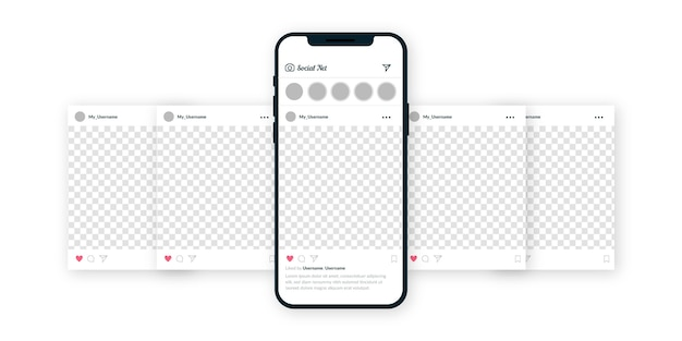 Interface de carrossel do instagram