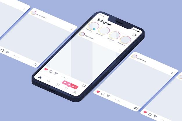Interface de carrossel do instagram Vetor grátis