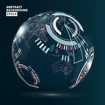 Interface de globalização futurista