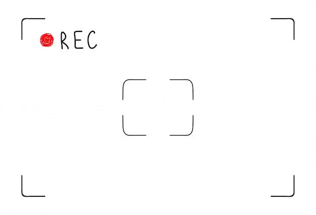 Interface de gravação de vídeo doodle