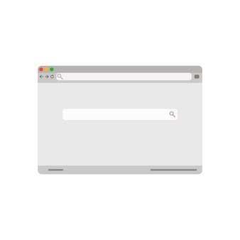 Interface de janela de pesquisa de vetor de página de navegador retrô