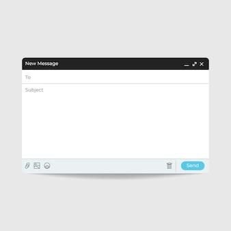 Interface de mensagem de email modelo de internet email