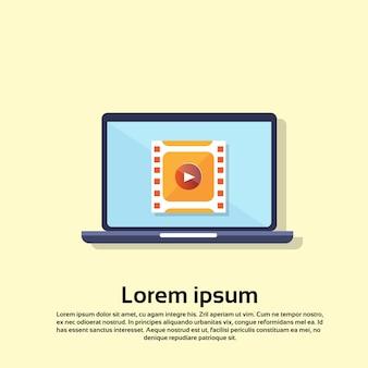 Interface de player de vídeo de computador portátil