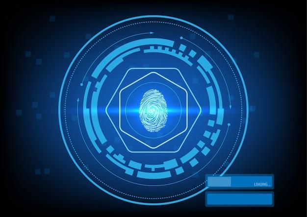 Interface de segurança com impressão digital