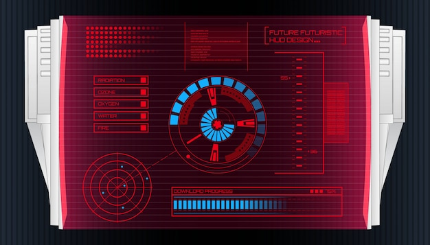 Interface de tecnologia futurista hud ui fundo.