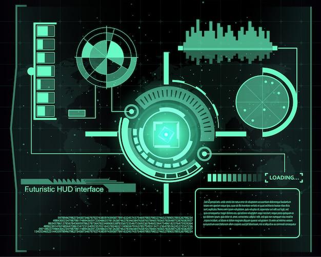 Interface de tecnologia futurista hud ui fundo.
