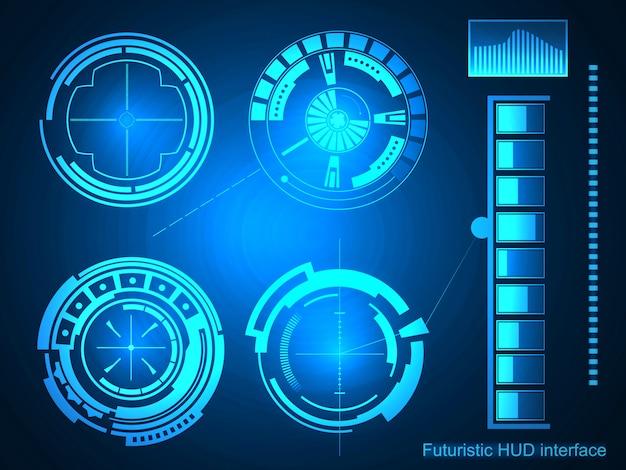 Interface de tecnologia futurista hud ui.