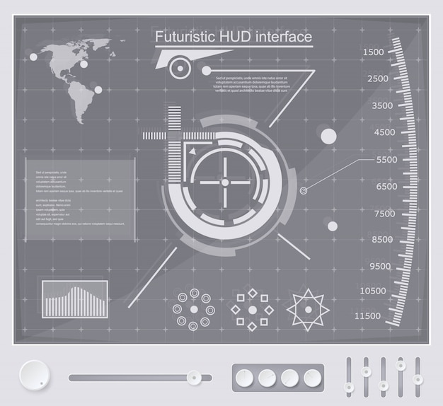 Interface de tecnologia futurista hud