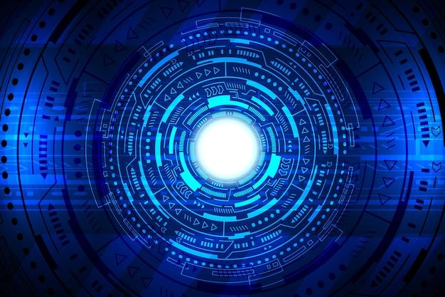 Interface de tecnologia hud abstrato design de vetor de fundo