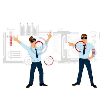Interface de toque para ilustração de negócios