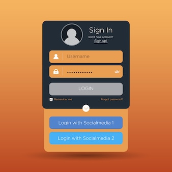 Interface de usuário de login simples.