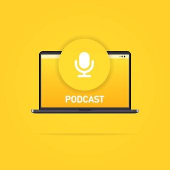Interface de usuário de podcast, mídia e entretenimento