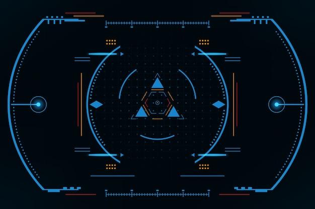 Interface de usuário do painel hud vr