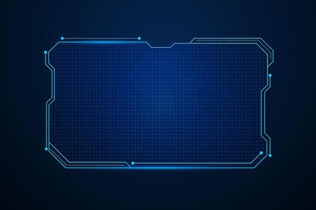 Interface de usuário futurista de ficção científica, design de moldura de hud, fundo abstrato de tecnologia