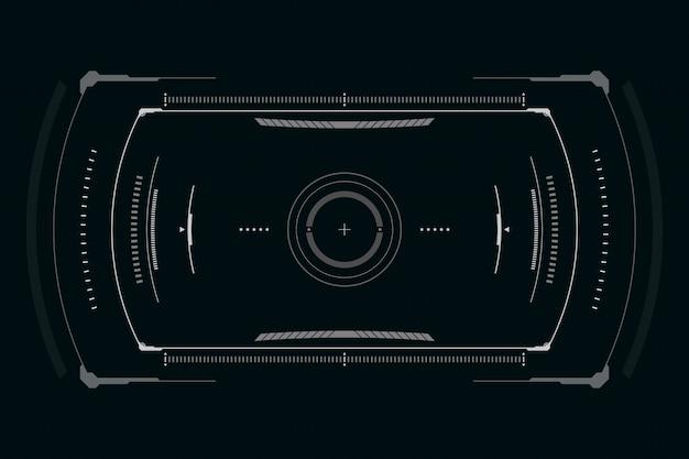 Interface de usuário futurista de ficção