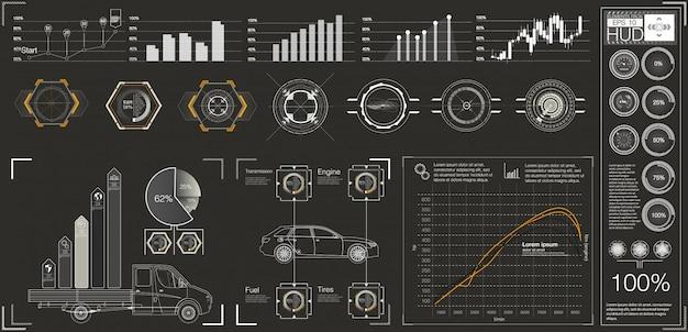 Interface de usuário futurista. interface do usuário do hud.