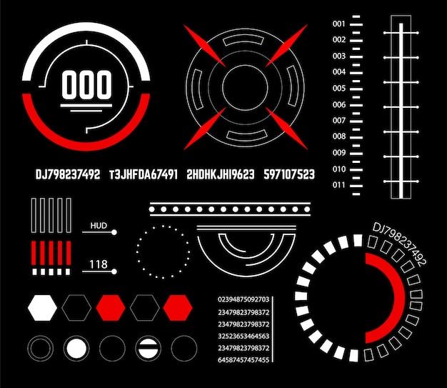 Interface de usuário futurista sci fi elementos hud.