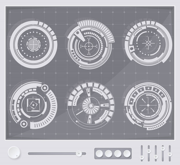 Interface de usuário futurista toque fundo hud.