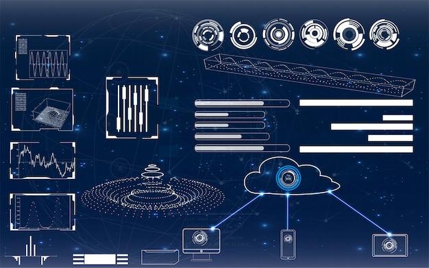 Interface de usuário futurista