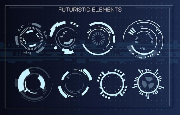Interface de usuário moderna futurista de tecnologia.