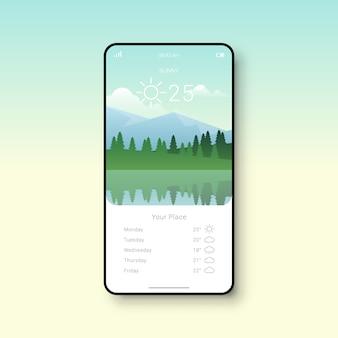 Interface de usuário simples do aplicativo weather
