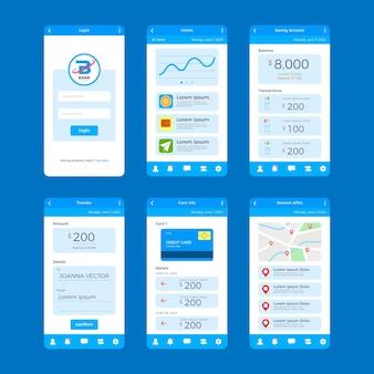 Interface do aplicativo bancário