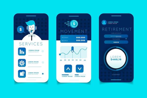 Interface do aplicativo de banco