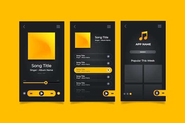 Interface do aplicativo music player