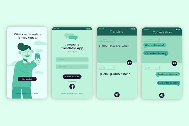 Interface do aplicativo para traduzir uma mensagem