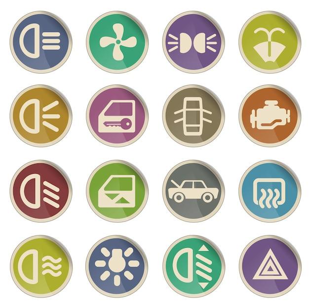 Interface do carro é simplesmente um símbolo para ícones da web