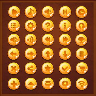 Interface do conjunto de botões da interface do usuário do jogo